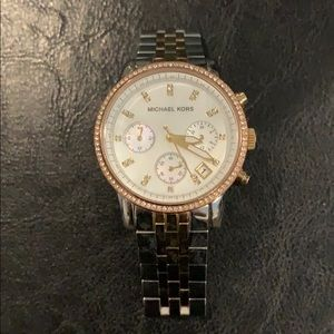 Michael Kors three toned watch